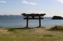 Torii-on-Naoshima-Beach