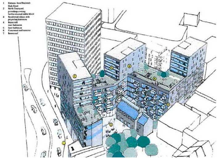 Artist interpretation of Callis Yard Scheme in 2008