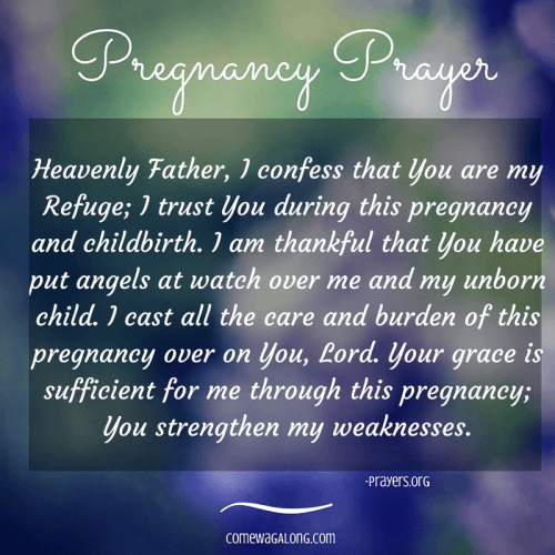 Pregnancy Prayer - Godly Order in Pregnancy and Childbirth - Prayers.org