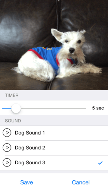 Pic-Pet Camera Dog Sounds and Timer