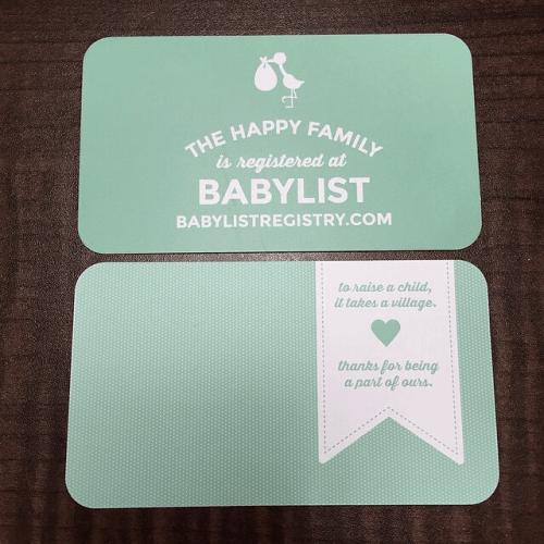 babylist registry free order registry instert cards
