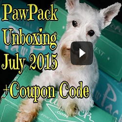 PawPack Unboxing July 2015 + Coupon Code