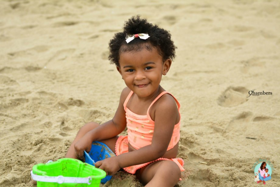 Virginia Beach Playing in Sand