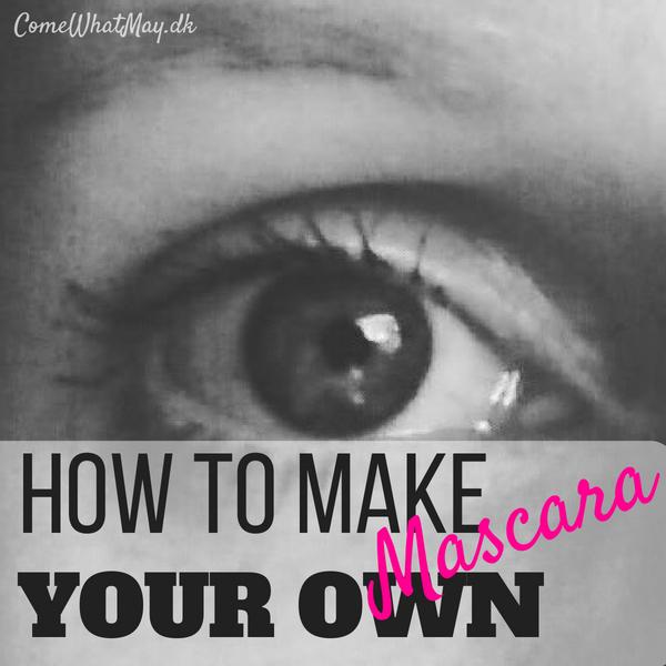 how to make your own mascara #DIY #eggscara #mascara