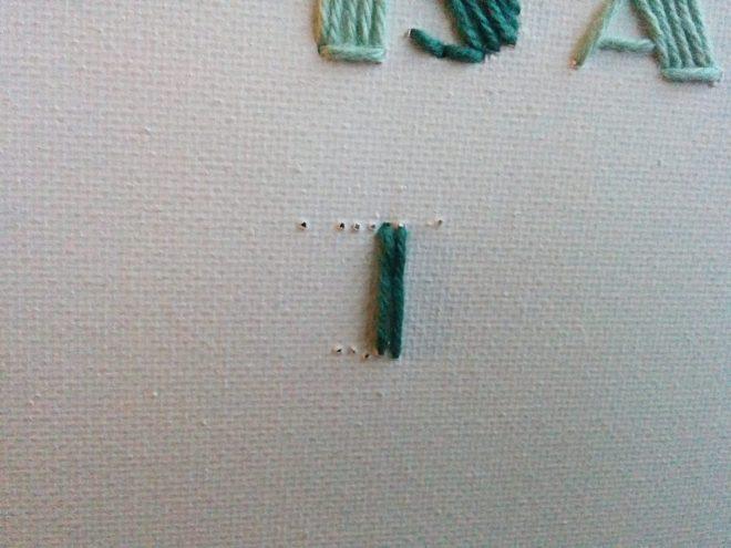 Brodere bogstaver på stof | broderi bogstaver | søstrene grene lærred