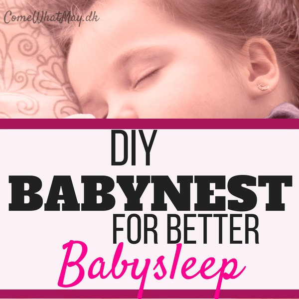 Get better babysleep with DIY babynest baby nest #babynest #babysleep #DIY
