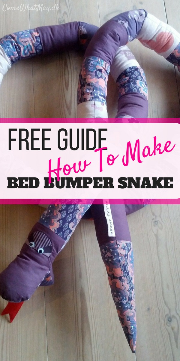 free guide, how to create a bed bumper snake #sengerand #slange #DIY