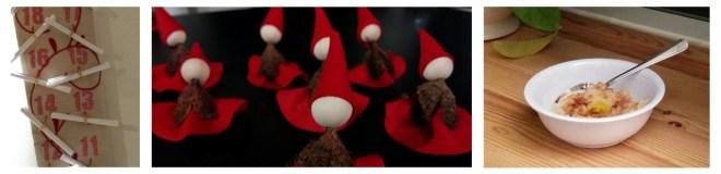 nissedør, julesok, julepynt og risengrød / nissegrød