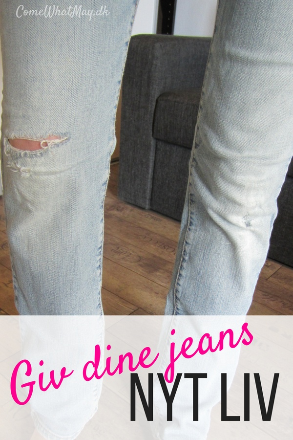 how to patch old jeans | repair your jeans | reparer dine jeans | hvordan du kan lappe dine jeans | sy jeans ind | take in your jeans