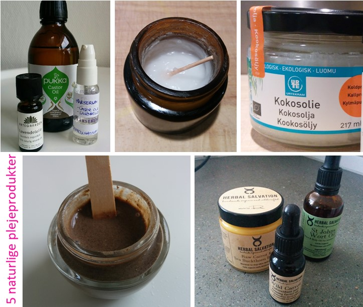 5 naturlige plejeprodukter