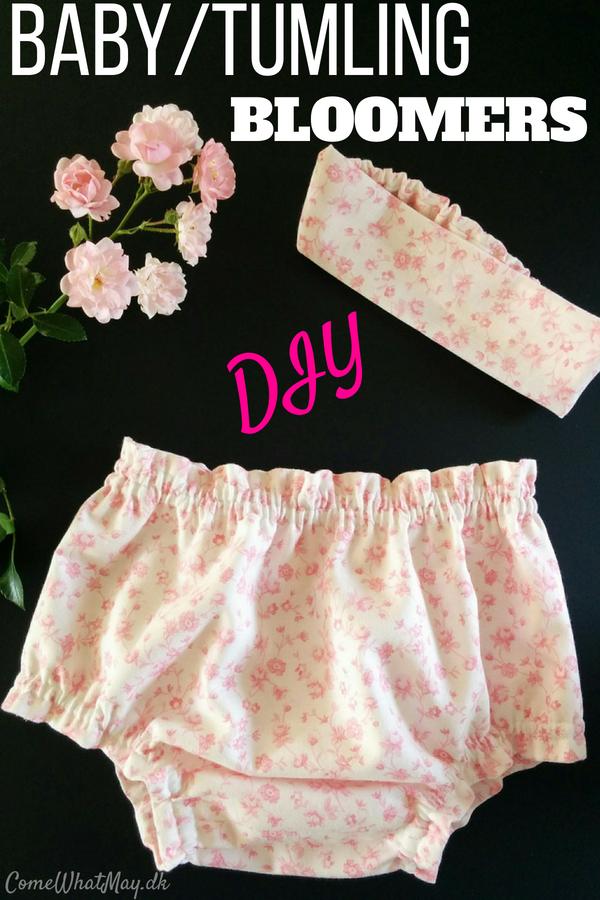 DIY baby bloomers til baby eller tumling med matchende hårbånd | mønster | sy
