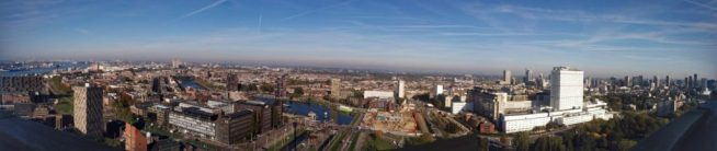 Panorama view fra Euromast over Rotterdam