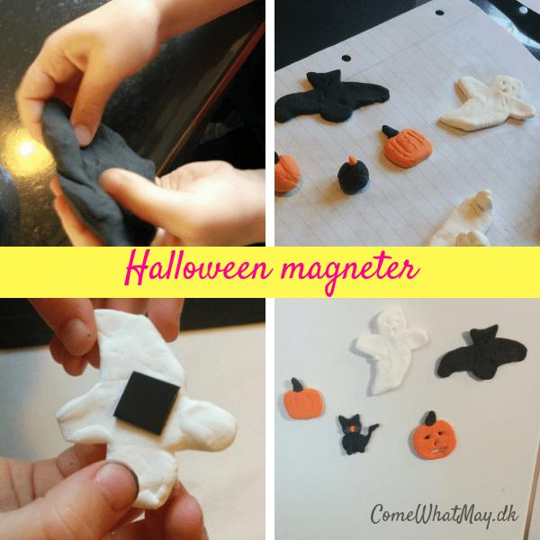 Halloween magneter i silkclay | DIY | cchobby | spøgelse | græskar | kat | flagermus | halloweenpynt