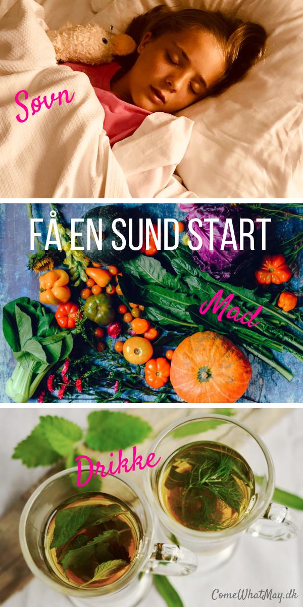 Få en sund start på året med bedre søvn, flere grøntsager og frugter og sunde drikkevaner