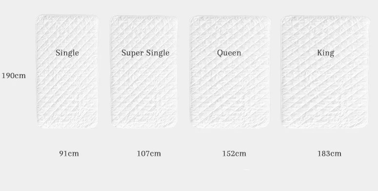 King Size Quilt Measurements Cm