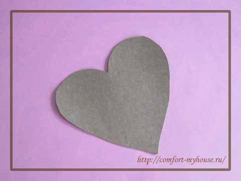 Zagotovka valentinki iz kartona