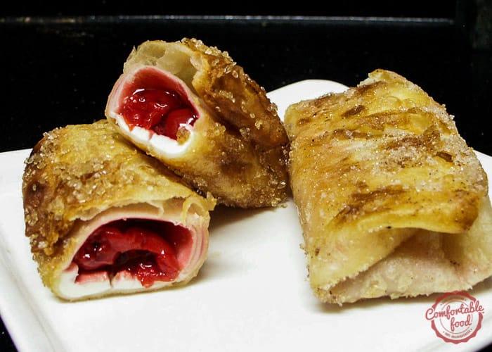Creamy crispy fried cherry pie recipe.