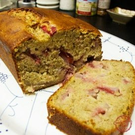 A super easy recipe for strawberry banana bread.