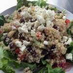 Quinoa Salad with Black Beans, Feta, and Lemon Garlic Dressing