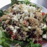 Quinoa Salad with Black Beans, Feta, and Lemon Garlic Dressing