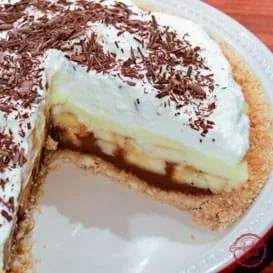 A chocolate bottomed banana cream pie recipe.