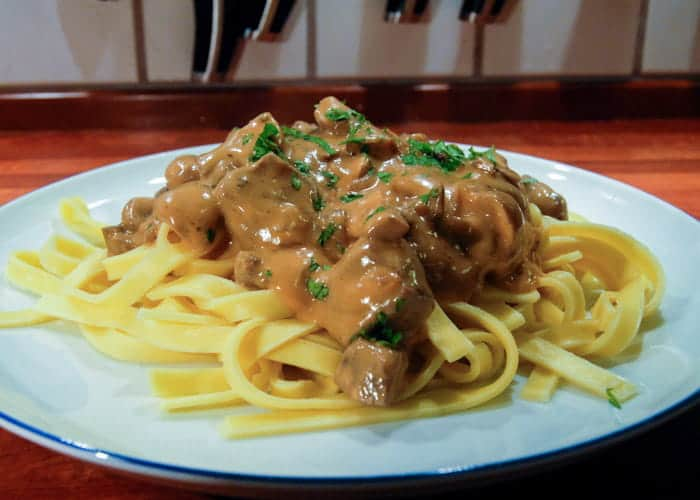 Classic, Simple Beef Stroganoff from Comfortable Food.