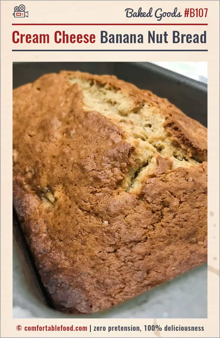 Cream cheese banana nut bread video comfortable food this cream cheese banana bread is the best youll ever have forumfinder Images