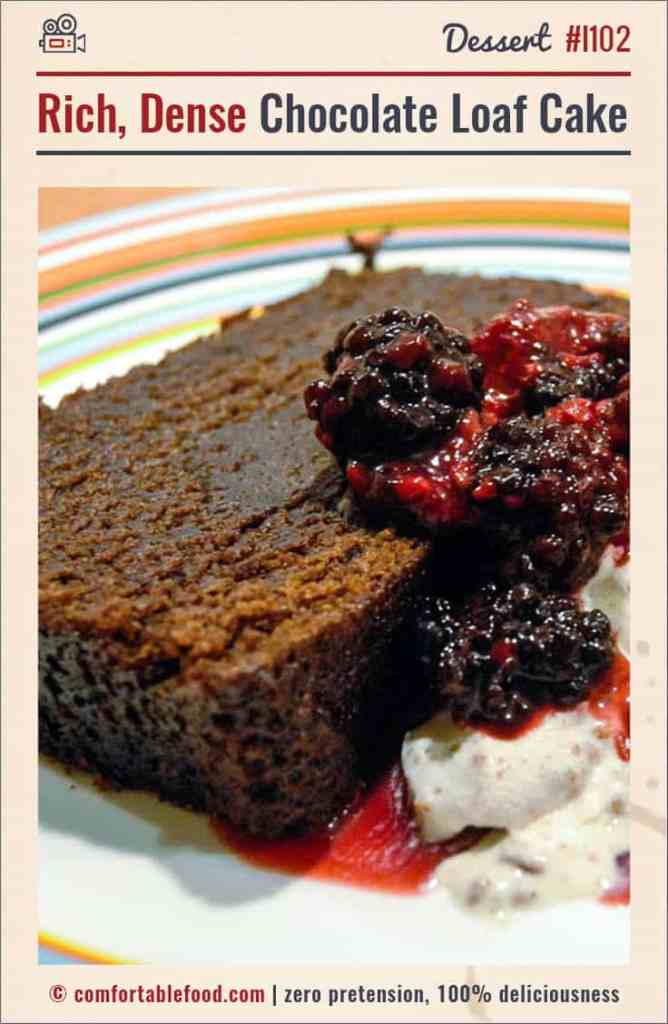An easy chocolate cake recipe from comfortable food.