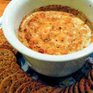 Hot and spicy, ridiculously delicious Baked Crab Dip.