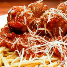 Classic Italian spaghetti and meatballs recipe.