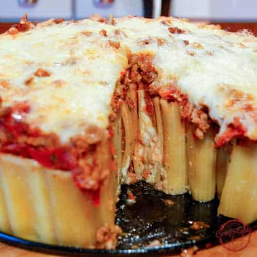 This Cheese Stuffed Rigatoni Pasta bake is as delicious as it is impressive.