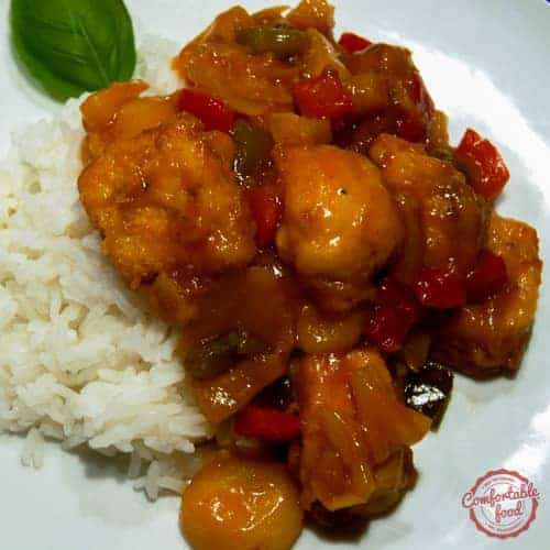 An easy recipe for making the best sweet and sour chicken at home.
