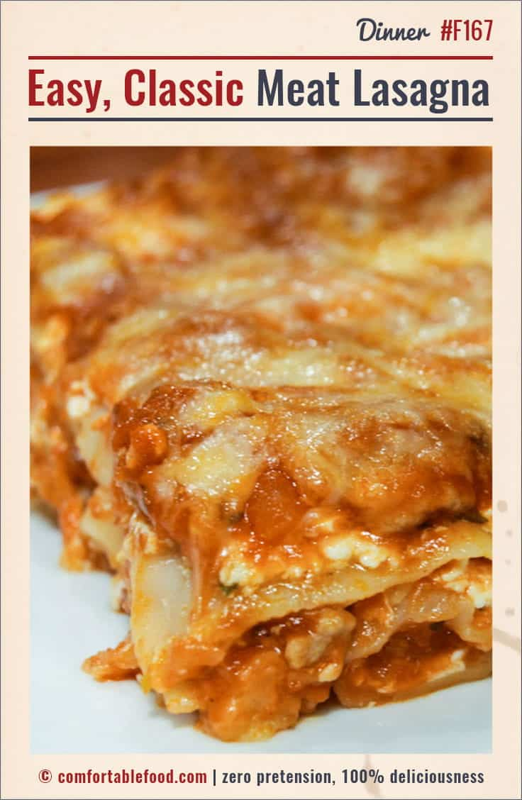 Classic simple beef lasagna recipe.