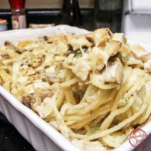 Recipe for a rich and creamy chicken casserole