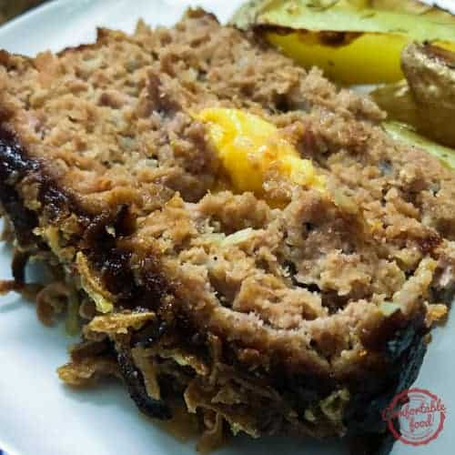 Hearty and delicious bbq bacon cheeseburger meatloaf recipe.