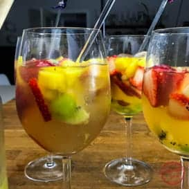 Quick and Easy Tropical White Sangria & Video