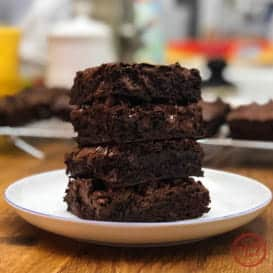 The Best Dark Chocolate Brownies