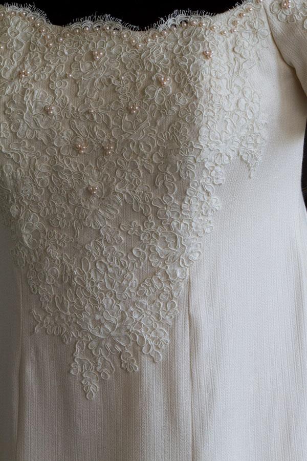 """Wedding Dress"", silk, French Alencon lace, and Ayoka pearls, 2010."