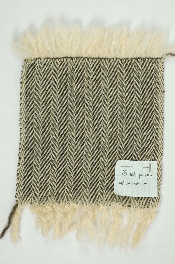 Sample #1: Cloth was set at 18 e.p.i.