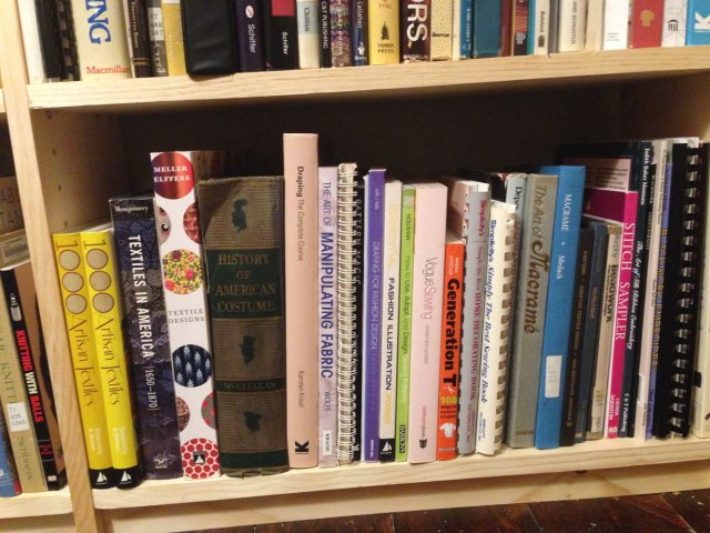 A few of my history books and sewing books.