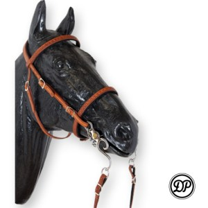 Soft Feel Baroque Headstall with Tooling Image