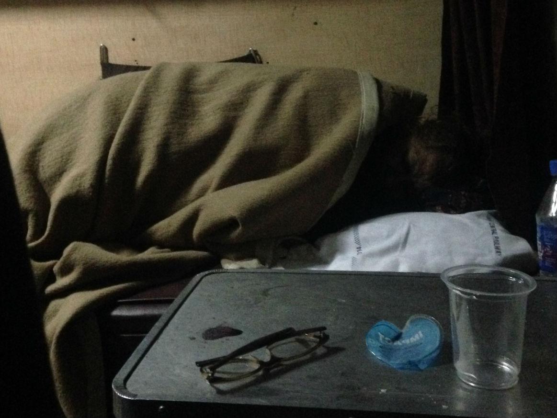 sleeping old lady