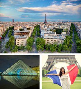 London-Paris escorted tours - Eiffel Tower and Louvre