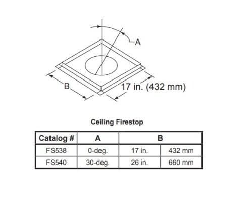 Majestic FS538-FS540 Ceiling Firestop