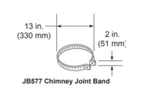 Majestic JB577 Chimney Joint Band
