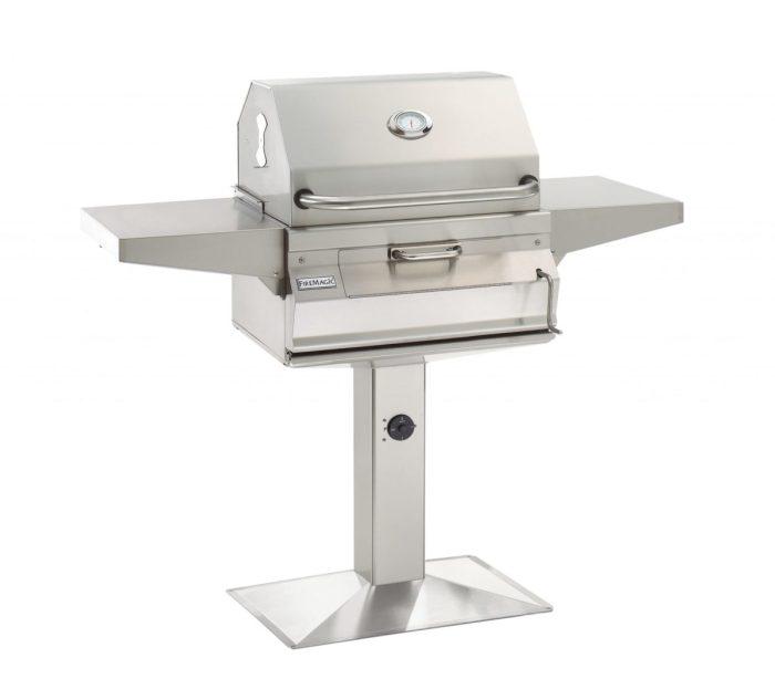 Firemagic 22-SC01C-P6 24 Charcoal Patio Post Mount Grill