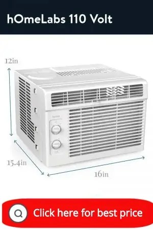 hOmeLabs window air conditioner 11o volt 7 speed