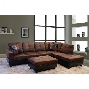LIFESTYLE 3 PIECE AVELLINO RIGHT-HAND SECTIONAL SOFA