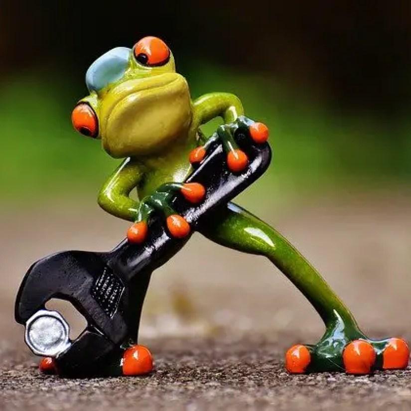 frog tightening screw