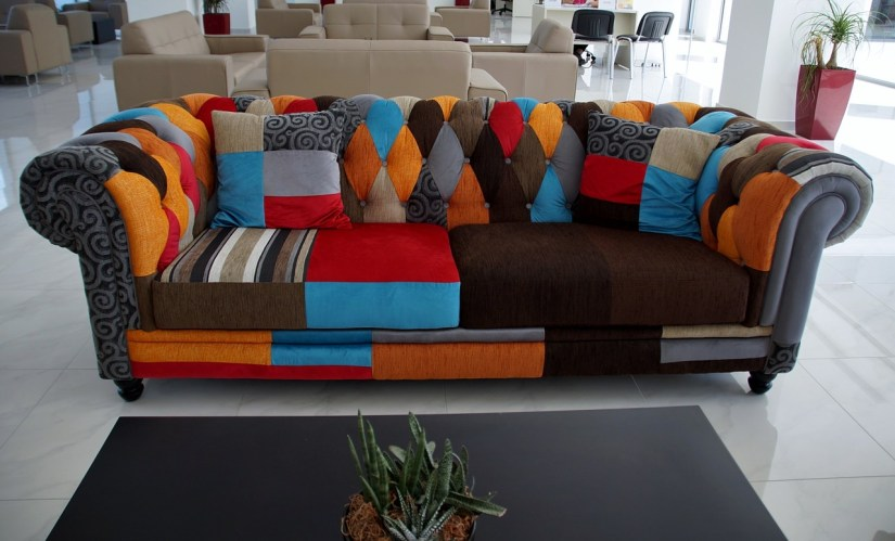 colourful upholstery sofa